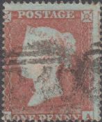 1854 1d Red SG17 Plate 167 'IA'